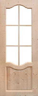 Дверь из массива Дача под окраску (полотно)