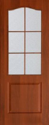 Ламинированная дверь Палитра остекленное полотно