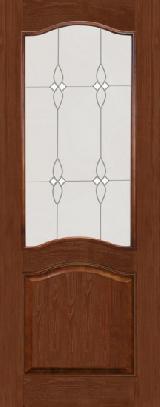 Дверь из массива М7ш темный лак стекло полотно