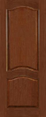 Дверь из массива М7ш темный лак глухое полотно